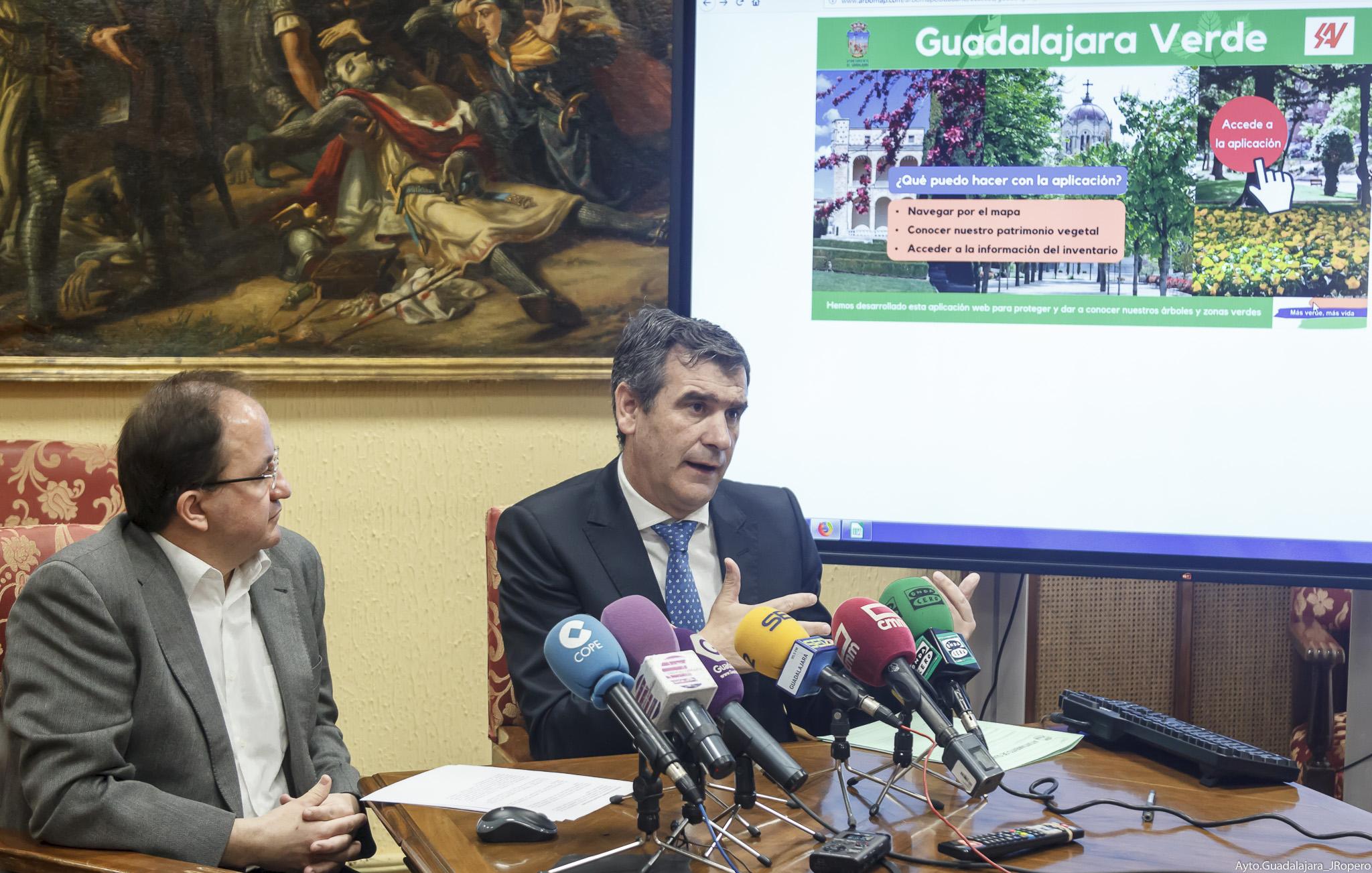 El Ayuntamiento de Guadalajara  implanta Arbomap una nueva herramienta   digital para la gestión del inventario de las zonas verdes y el arbolado