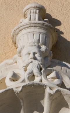 Detalle de la fachada del Ayuntamiento.