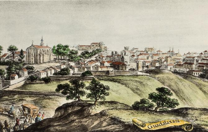 Print of the city during the Cosme of Medicis´s trip