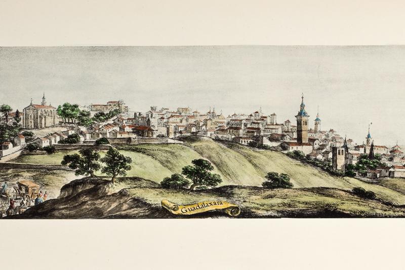 Grabado de la ciudad hecho por Cosme de Medicis