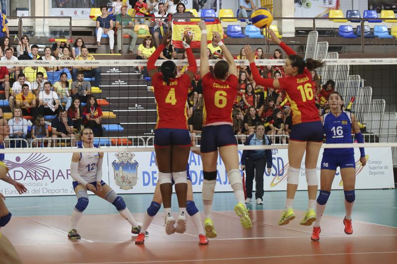 Liga Europea de voleibol. Partido España-Ucrania