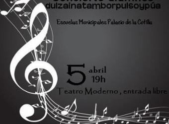 Concierto. Alumnos de dulzaina, tambor y pulso y púa del Palacio de la Cotilla