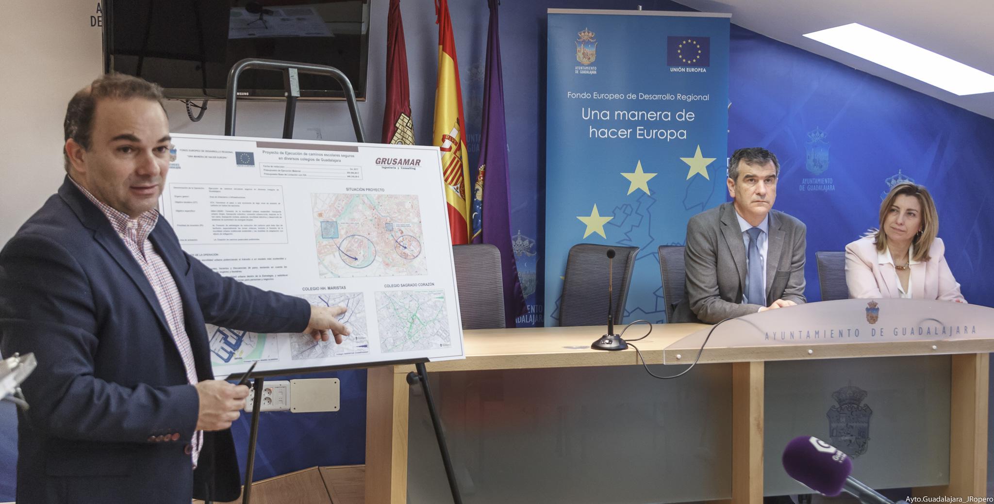 El Ayuntamiento creará nuevos caminos escolares seguros para mejorar la seguridad vial de Guadalajara