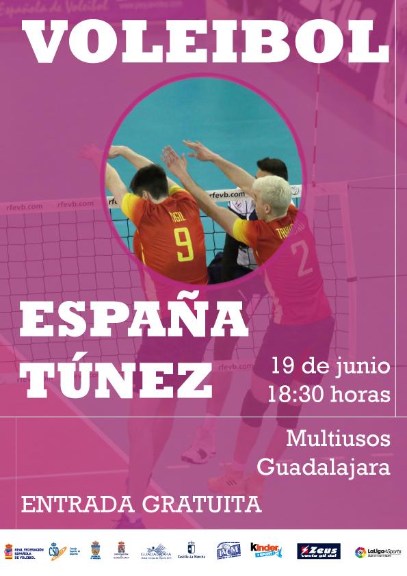 Esta tarde, en el Multiusos,  partido amistoso entre las selecciones de voley masculino de España y Túnez