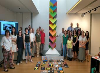 El primer seminario dedicado al arte geométrico y a la figura y obra de Francisco Sobrino, ha tenido una acogida  muy satisfactoria