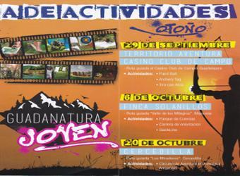 Abierto el plazo para  las actividades Guadanatura Joven y Junior del 20 de octubre