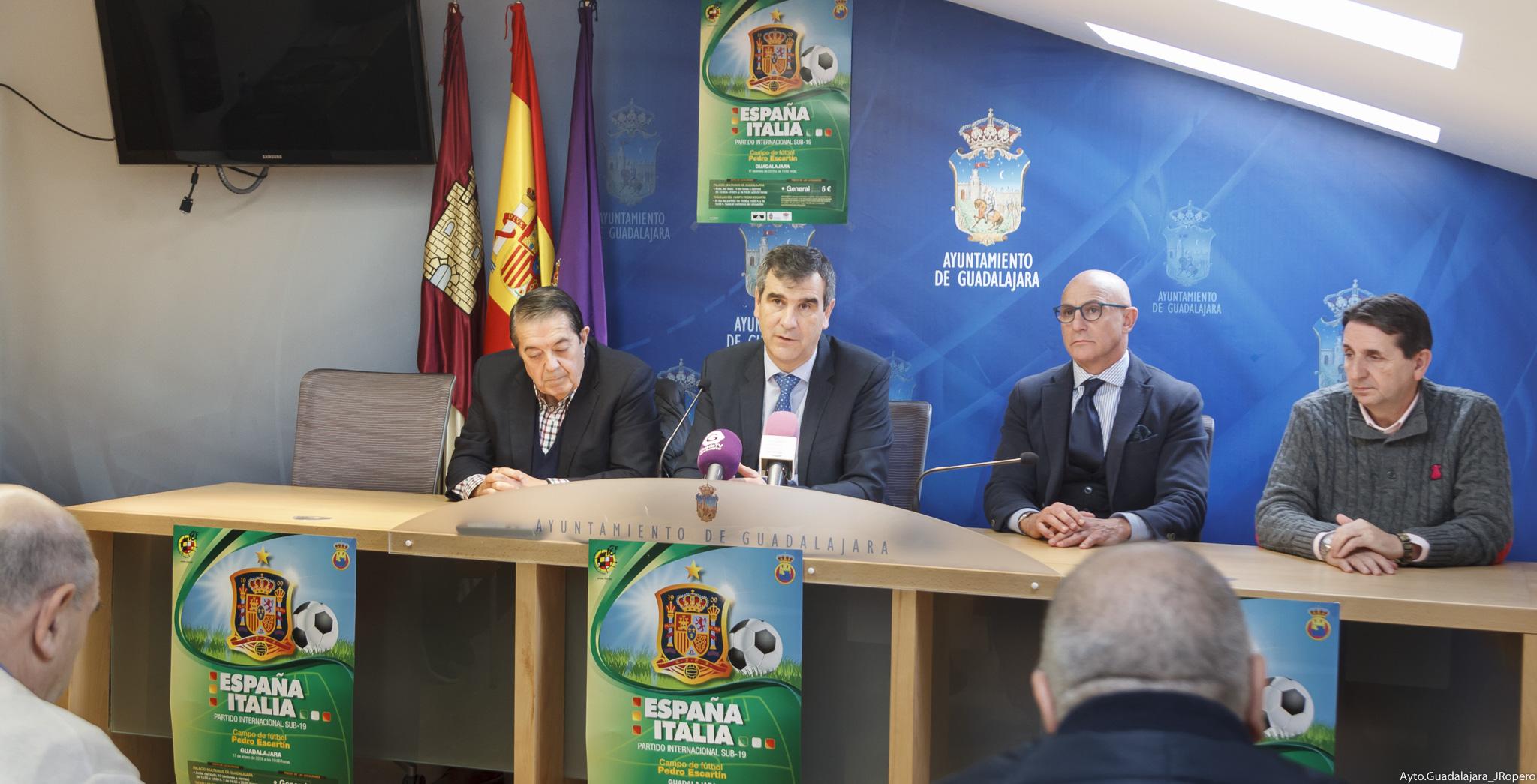 Guadalajara, escenario del duelo entre las selecciones sub 19 de fútbol de España e Italia