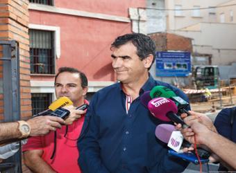 Visita de obra del alcalde de Guadalajara, Antonio Román