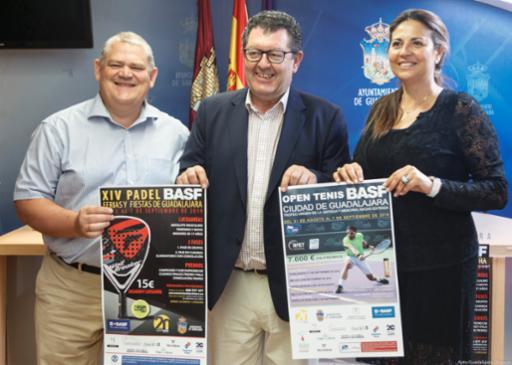 Los aficionados a los deportes de raqueta tienen una cita estas Ferias y Fiestas con el Open Tenis y Pádel BASF Ciudad de Guadalajara