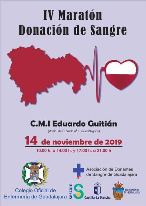 El IV Maratón de Donación de Sangre se celebrará el próximo 14 de noviembre