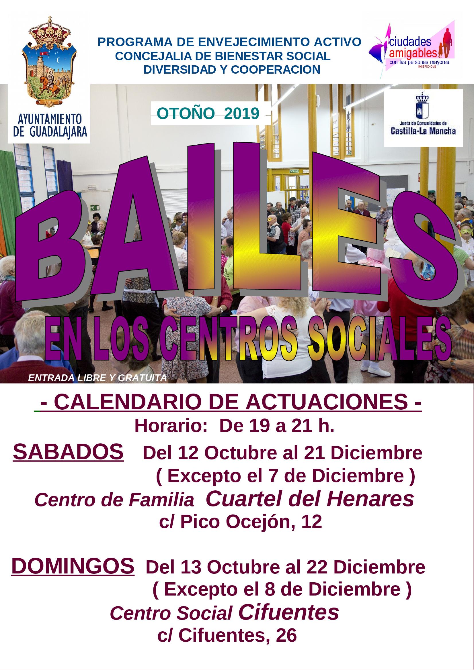 A partir del  sábado 12 de octubre,  arranca la nueva edición de los Bailes de Otoño