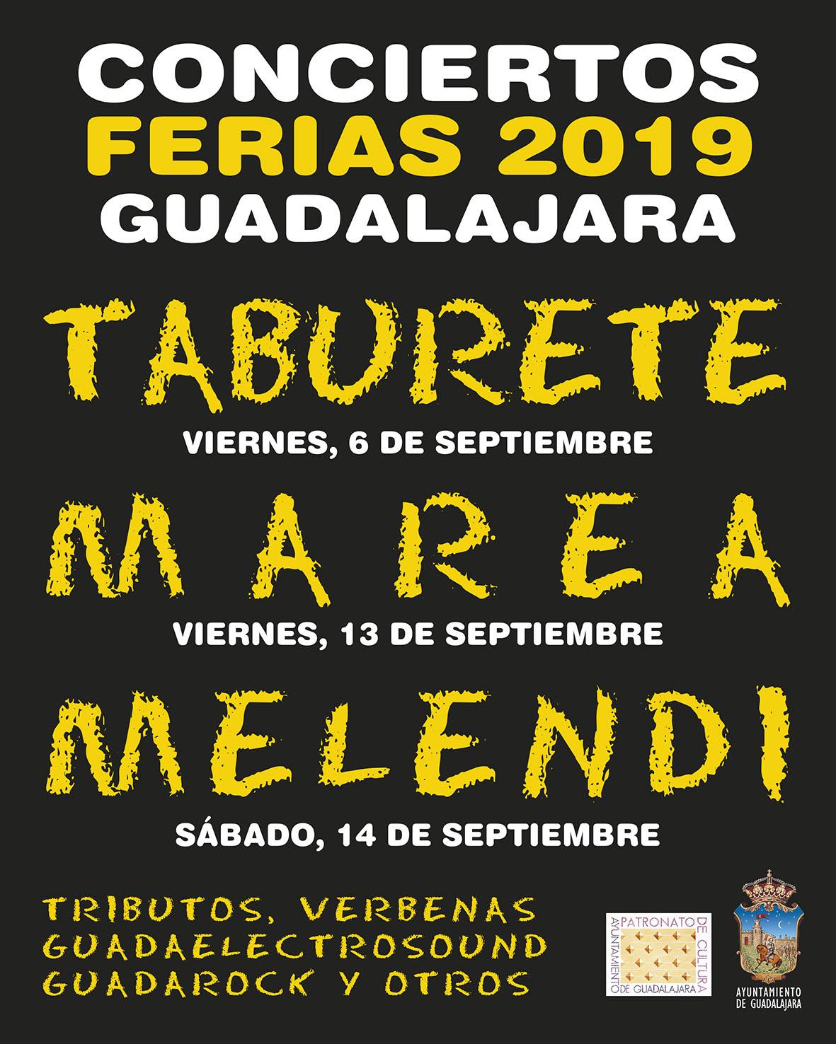 Taburete, Marea y Melendi, grandes conciertos de las Ferias y Fiestas 2019