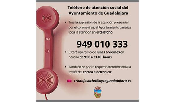 EL Ayuntamiento prestará atención social telefónica y ayudará a personas en situación de emergencia que no puedan salir de su vivienda a comprar