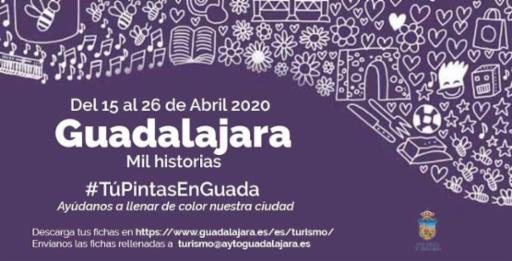 Tú pintas en Guadalajara, una iniciativa de la concejalía de Turismo para que los niños y niñas conozcan la ciudad sin salir de casa