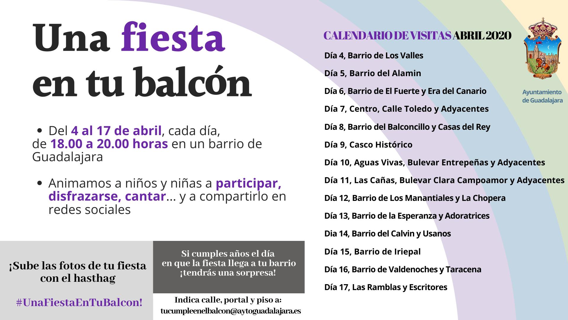 El Ayuntamiento pone en marcha 'Una fiesta en tu balcón'