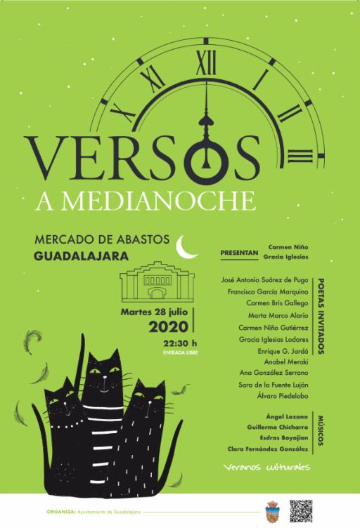 Una nueva y renovada  edición de       Versos a medianoche llega al Mercado de Abastos de la mano de Veranos Culturales